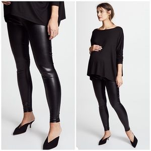 Hatch maternity faux leather leggings